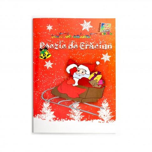 """Carte de citit si colorat """"Poezie de Craciun"""", 16.5 x 23.5 cm"""