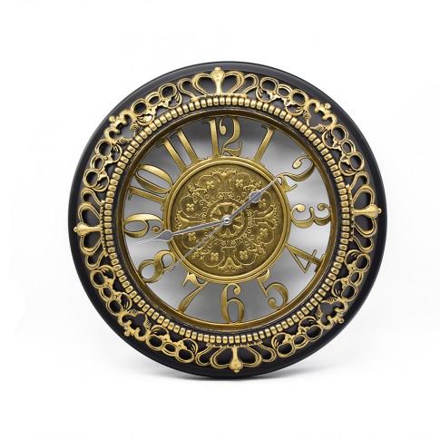 Ceas de perete D253, din plastic / sticla, 45 x 42 x 5.5 cm