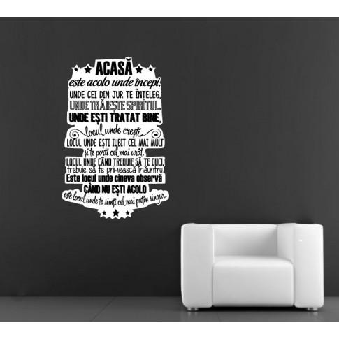 Sticker decorativ perete, living, Acasa, PT1482, 90 x 130 cm