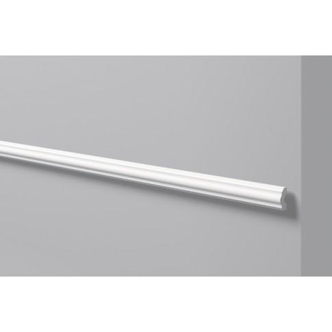 Brau decorativ polimer dur WL3, clasic, alb, 200 x 4 x 1.5 cm