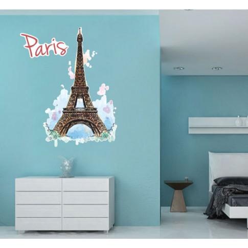 Sticker decorativ perete, living, Paris, PT1512, 80 x 80 cm