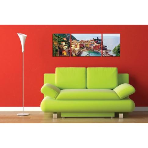 Tablou PT1522, 3 piese, peisaj, canvas + sasiu brad, 1 piesa - 35 x 45 cm + 1 piesa - 45 x 60 cm