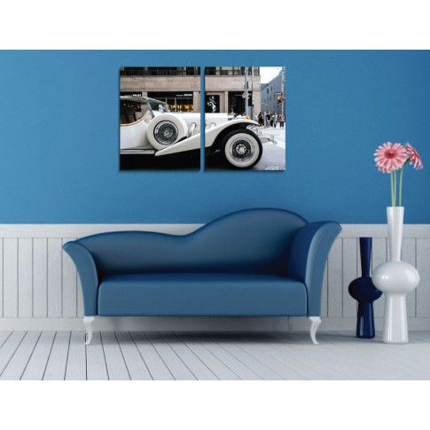 Tablou PT1525, 2 piese, masina, canvas + sasiu brad, 90 x 60 cm