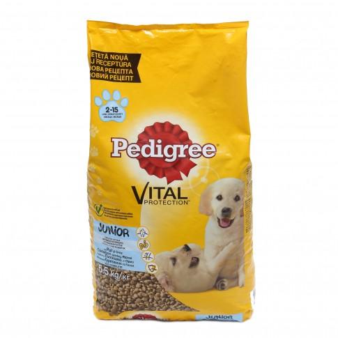 Hrana uscata pentru caini, Pedigree Vital Protection junior, carne de pui & orez, 6.5kg