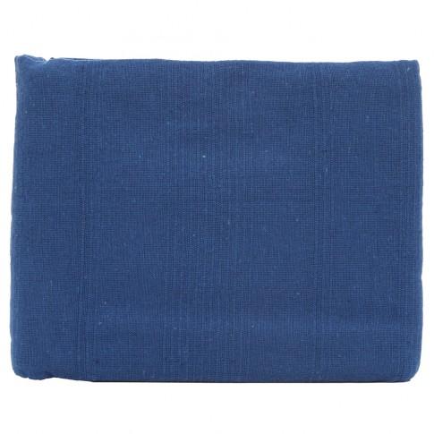 Cuvertura de pat + fete de perna, Caressa, bumbac, albastru, 180 x 240 cm