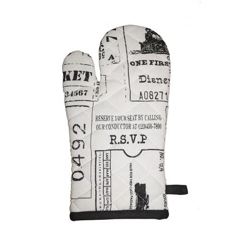 Manusa bucatarie SSE-OTC-9778, model vintage cu text, bumbac + poliester, 18x32 cm