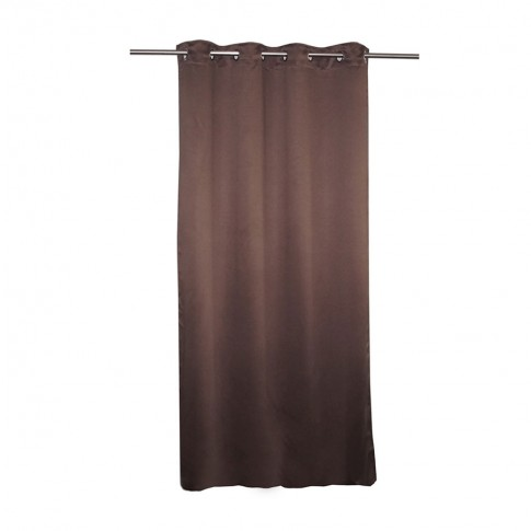 Draperie Blackout Shade 19, poliester, maro inchis, 140 x 245 cm