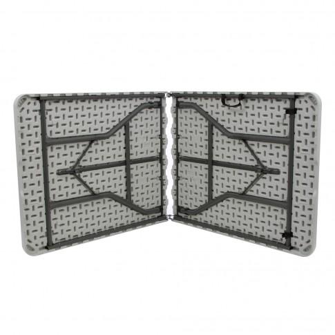 Masa plianta pentru gradina Z182-3X, metal + plastic, dreptunghiulara, 6 persoane, 182 x 74 x 74 cm