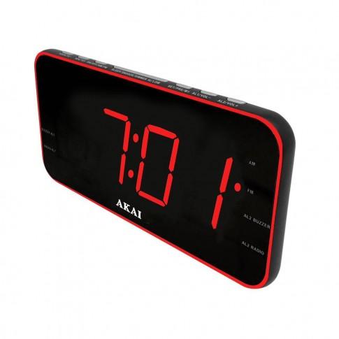 Radio FM/AM Akai ACR-3899, cu ceas, functie alarma, snooze, sleep timer