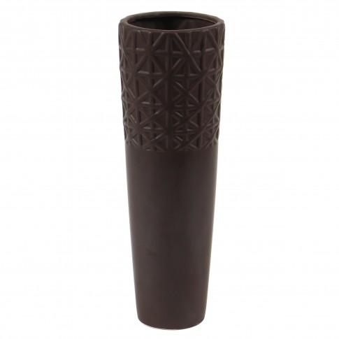 Vaza decorativa 12010 217, maro mat, 30 cm