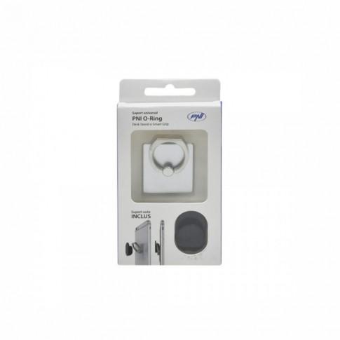 Suport auto pentru telefon PNI, universal, O-Ring-S, argintiu
