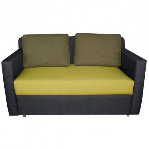 Canapea extensibila 2 locuri Oslo, stanga, cu lada, negru + verde, 142 x 75 x 80 cm, 1C