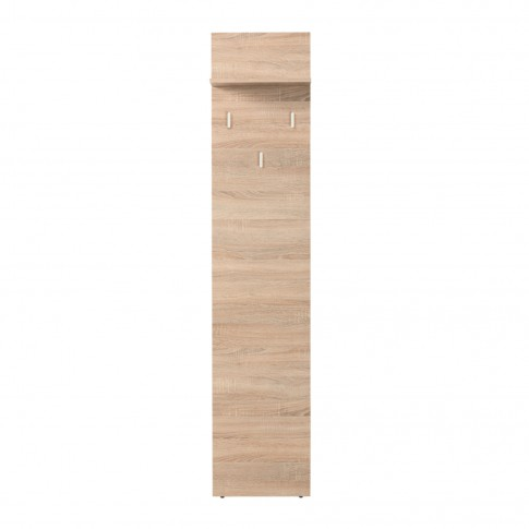 Cuier hol pentru perete Amos CIV cu 3 agatatori si polita, stejar sonoma, 400 x 210 x 1885 mm, 2C