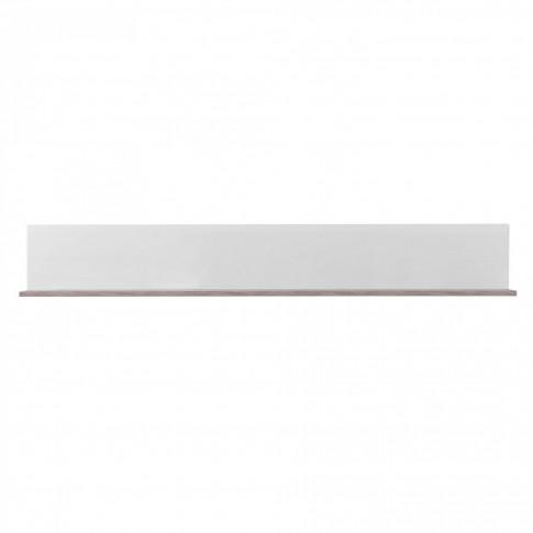 Etajera PAL, perete, Bert ZP 150, stejar gri + folie lucioasa alba, 150 x 19.5 x 22 cm, 1C