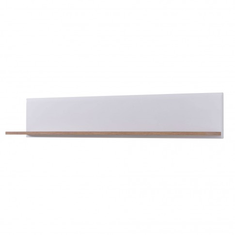 Etajera PAL, perete, Magnus ZP, stejar auriu + alb lucios, 119 x 19.5 x 22 cm, 1C
