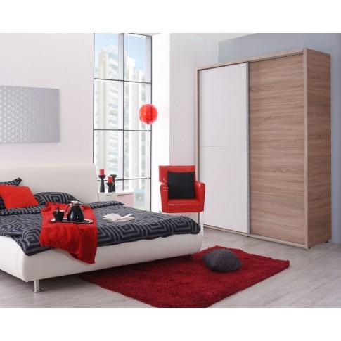 Dulap dormitor Logan 135, sonoma + alb, 137.5 x 61 x 206 cm, 3C