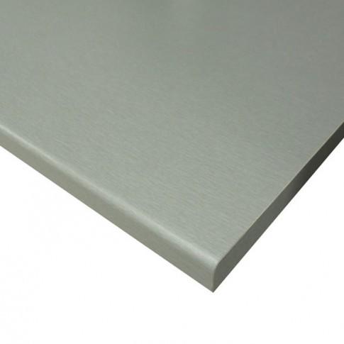 Blat bucatarie Forma Ideale Titanium, PAL, finisaj gri, 2.8 x 60 x 120 cm