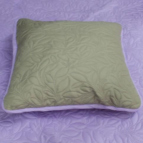 Cuvertura de pat + fete de perna, Aurora, poliester, gri + violet, 210 x 250 cm
