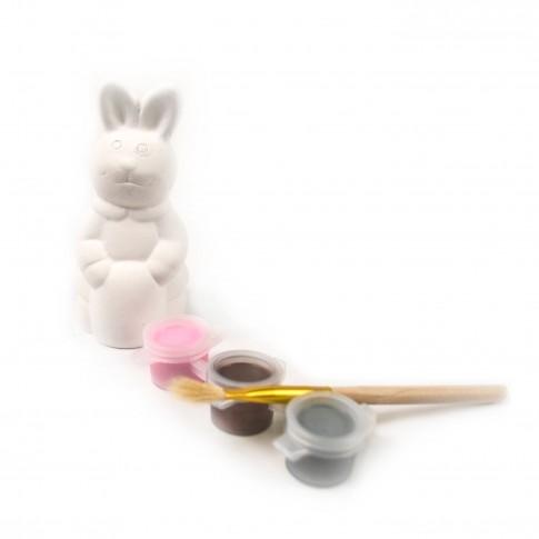 Iepure de Pasti, Arhi Design, ceramica, tempera + pensula, set pictura