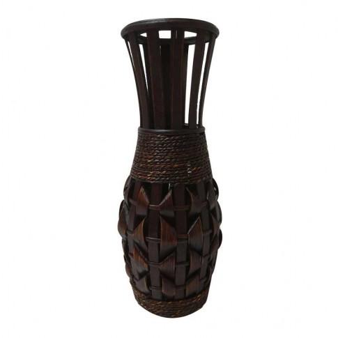 Vaza decorativa, bambus, B09281, maro, 40 cm