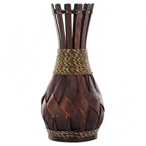 Vaza decorativa bambus, XB16618, maro, 38 cm