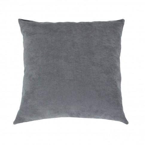 Perna decor Hazan 69, gri, poliester + fibra poliester siliconizata, 43 x 43 cm