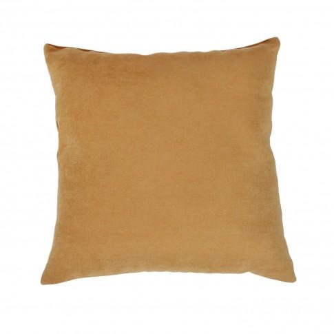 Perna decor Hazan 80, maro, poliester + fibra poliester siliconizata, 43 x 43 cm