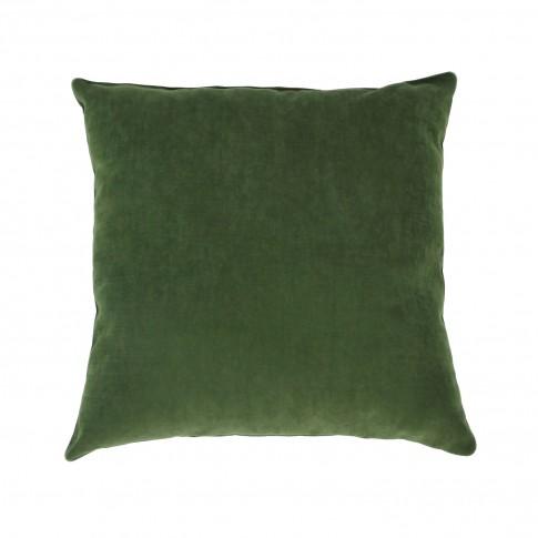 Perna decor Hazan 59, verde, poliester + fibra poliester siliconizata, 43 x 43 cm