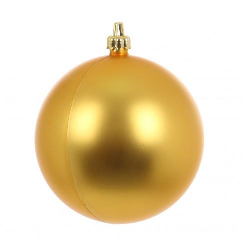 Globuri Craciun, auriu, D 12 cm, set 2 bucati, Metalizat