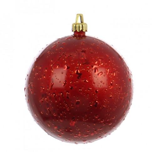 Glob Craciun, rosu, D 15 cm, Rugiada