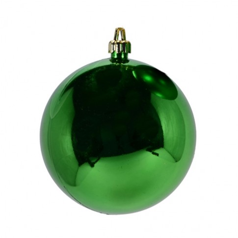 Glob Craciun, verde, D 15 cm