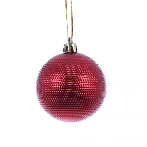 Globuri Craciun, rosii, D 6 cm, set 24 bucati, SD16-12A
