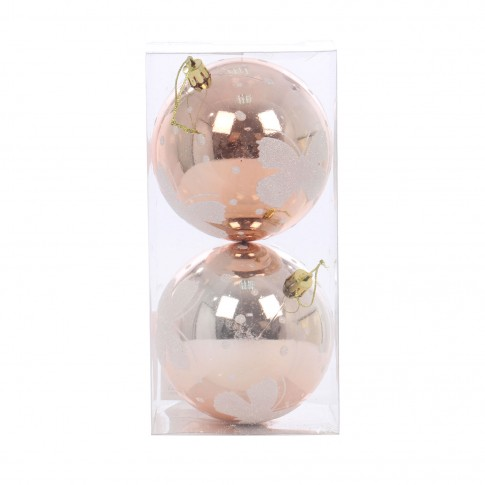 Globuri Craciun, champagne, D 10 cm, set 2 bucati, SY17DGZ-256