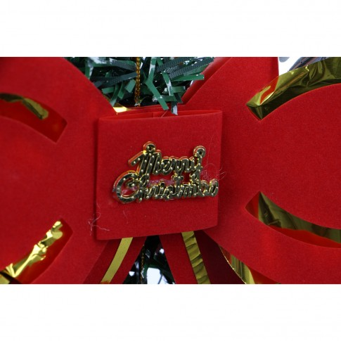 Coronita Craciun, verde + rosu, 30 cm, SYCB17-172