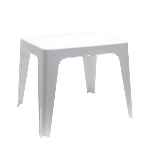 Masuta fixa pentru gradina Dol, plastic, dreptunghiulara, 2 persoane, 50 x 42 x 45 cm