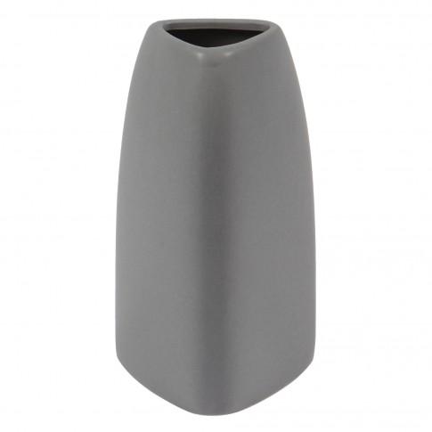 Vaza AP395 CV5086 317, gri mat, H 16 cm