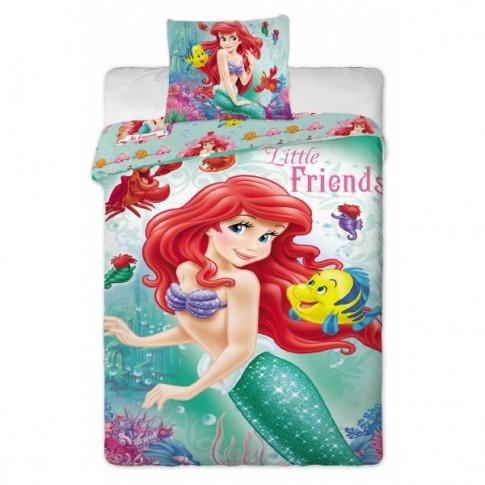 Lenjerie de pat, copii, 1 persoana, Ariel 2014, bumbac 100%, 2 piese, multicolor