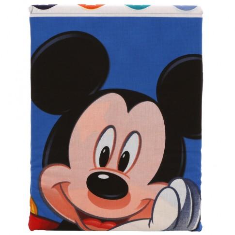 Lenjerie de pat, copii, 1 persoana, Mickey Stars, bumbac 100%, 2 piese, multicolor