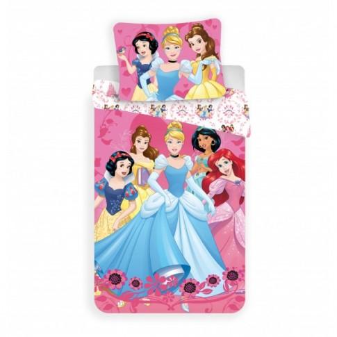 Lenjerie de pat, copii, 1 persoana, Princess 2017, bumbac 100%, 2 piese, multicolor