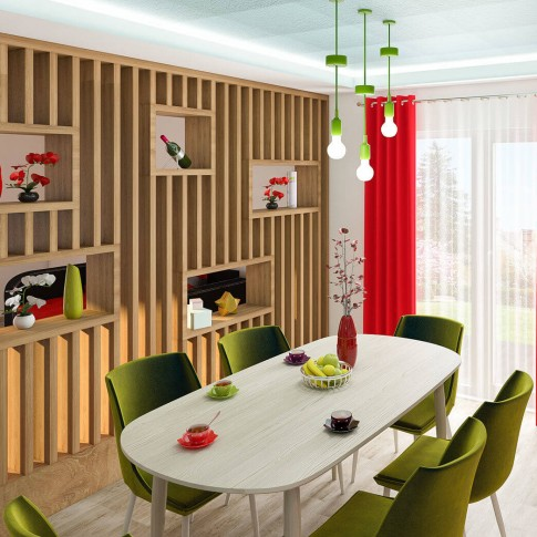 Masa bucatarie fixa Tokyo, ovala, 6 persoane, gri, 210 x 108 x 76 cm, 1C