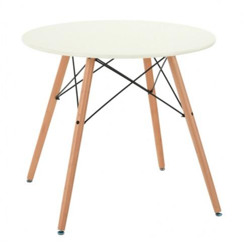Masa bucatarie fixa Chad, rotunda, 4 persoane, alb + fag, 80 x 71 cm, 1C