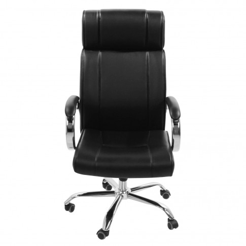 Scaun birou directorial LA-1107H, poliuretan, negru