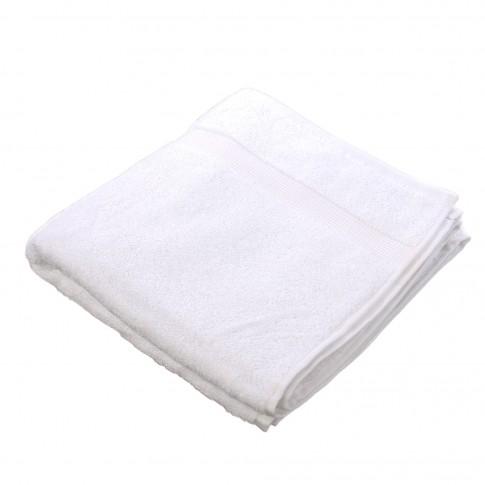 Prosop baie Caressa Hot, bumbac, alb, 50 x 90 cm
