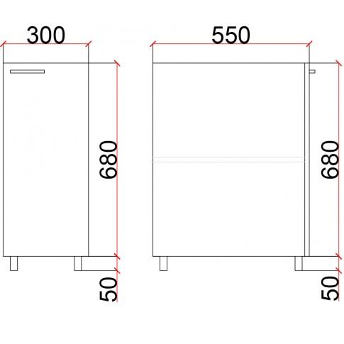 Roll box camera tineret Natalia T19, diverse culori, 30 x 55 x 73 cm, 1C