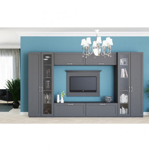 Dulap living Valentino LV20, furnir diverse culori, 2 usi, 80 x 55 x 205 cm, 1C