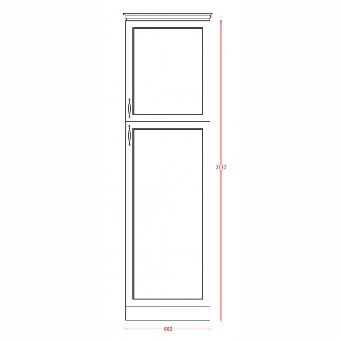 Dulap bucatarie Rhea, gri, 2 usi, 60 x 60 x 214 cm