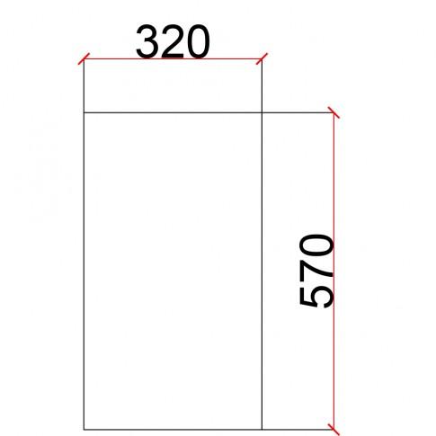 Laterala pentru corp suspendat Martplast, furnir diverse culori, 32 x 57 cm