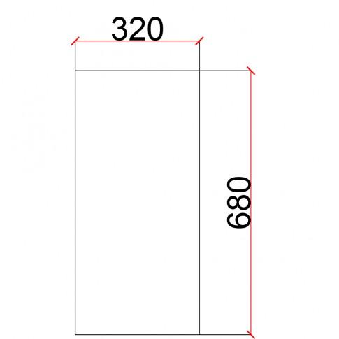 Laterala pentru corp suspendat Martplast, furnir diverse culori, 32 x 68 cm