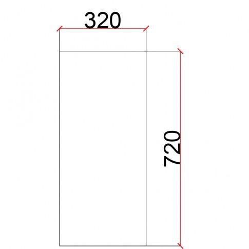 Laterala pentru corp suspendat Martplast, furnir diverse culori, 32 x 72 cm