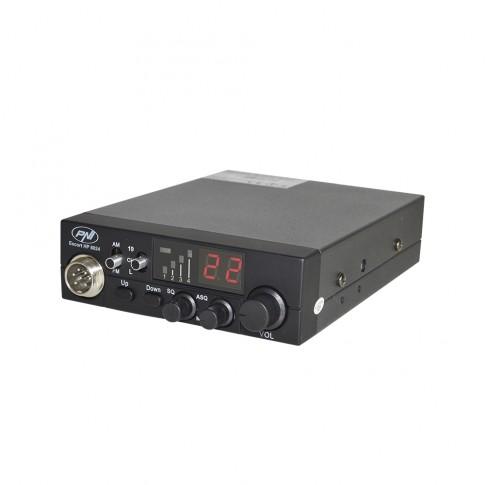 Statie radio auto CB PNI Escort HP 8024, 4 W, 12 V - 24 V, squelch automat reglabil, functie blocare taste, buton canale urgenta 9/19, conexiune difuzor suplimentar